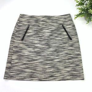 Loft Petites Knit Tweed Mini Skirt